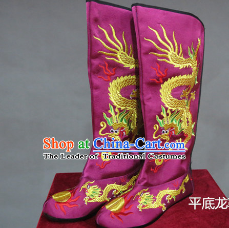 Chinese Traditional Bian Lian Mask Change Dragon Boots