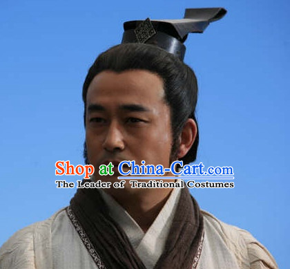 Chinese Qin Dynasty Male Hairstyles Chancellor Shang Yang Statesman Coronet for Men