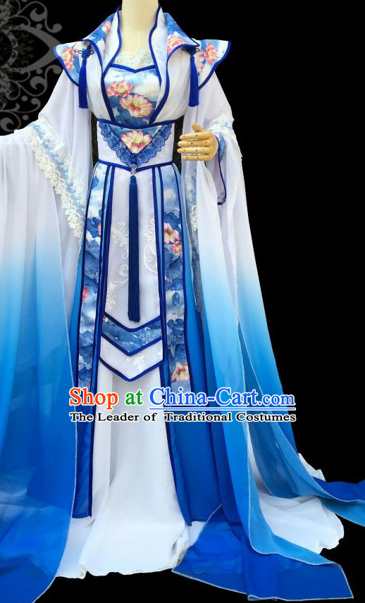 Gorgeous Chinese Fairy Princess Empress Queen Cosplay Costumes Ancient Chinese Clothing Complete Set for Women