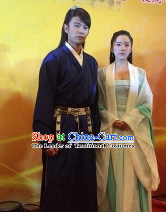 Ancient Chinese Traditional National Hanfu Dress Costumes Clothes Ancient China Clothing for Men or Boys