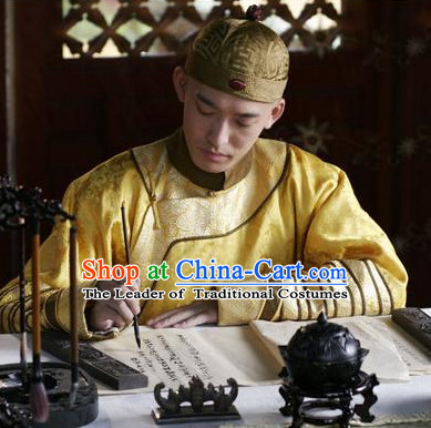 Ancient Chinese Male Black Hat Traditional Prince Emperor Headwear for Men or Boys