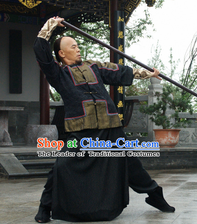 Ancient Chinese Style Kung Fu Costumes Complete Set for Men or Boys
