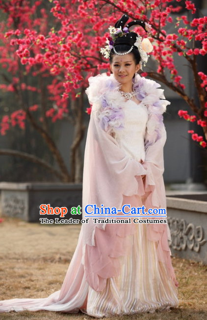 Ancient Chinese Style Princess Costumes and Headwear Complete Set