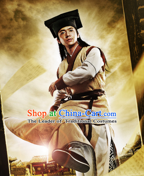 Custom Made Traditional Chinese Style TV Drama Film Male Knight and Headgear Complete Set