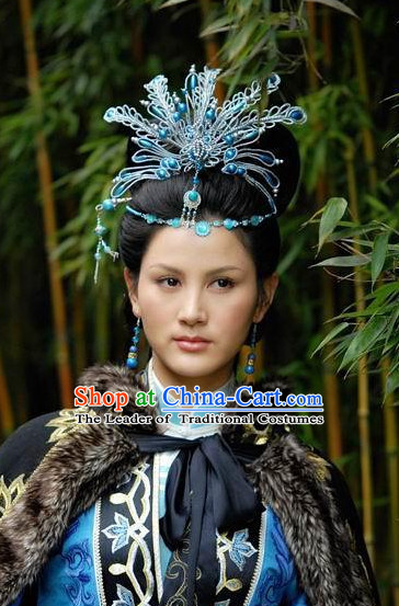 Chinese Traditional Style Princess Phoenix Headpieces Hairpieces Hair Jewelry for Women