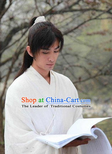 Ancient Chinese Traditional Style Long Black Full Wig for Men