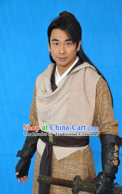 Traditional Chinese Ancient Swordman Dresses Complete Set for Men