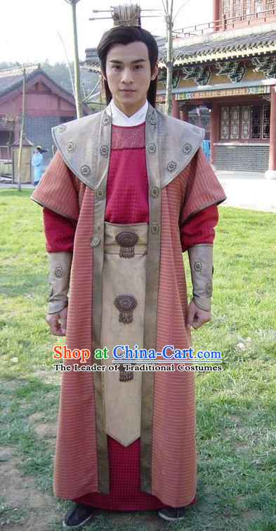Traditional Chinese Ancient Swordman Clothes Complete Set for Men