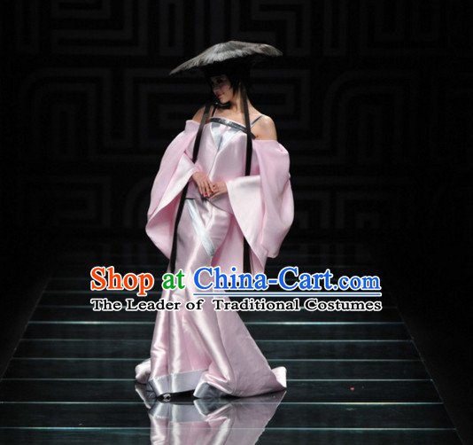 Asian Chinese Fashion Custom Tailored Custom Make Made to Order Chinese Style Custom Made Professional Stage Performance Costumes and Hair Decoration Headwear Complete Set