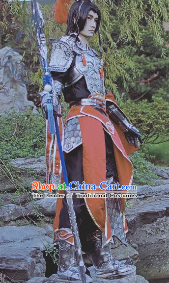 Ancient Chinese Armor General Clothing Complete Set for Men