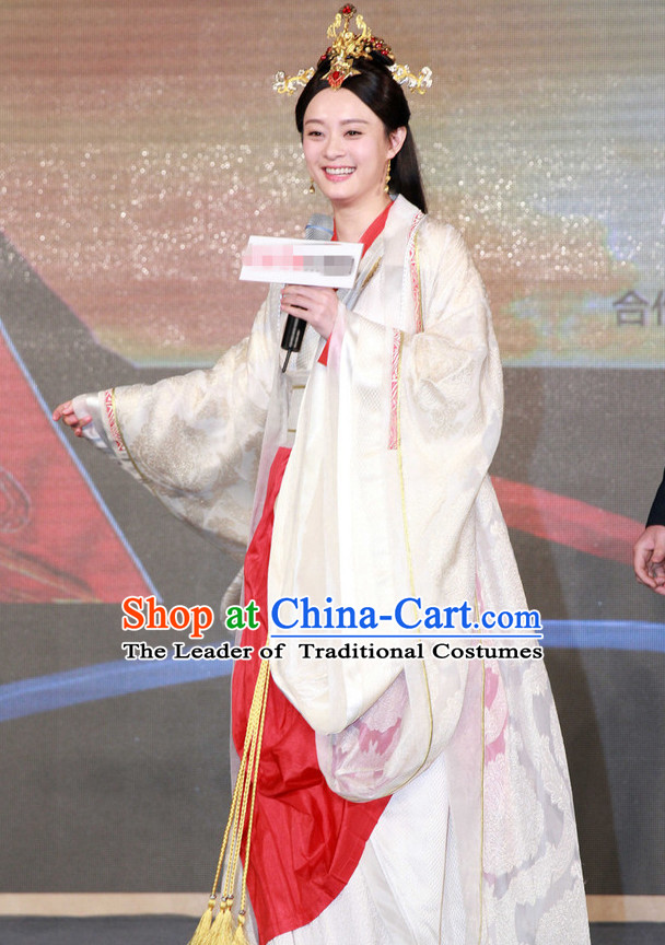 Traditional Chinese Ancient Empress Suit Complete Set for Women