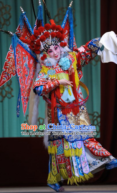 Top Chinese Traditional Opera Empress Costumes and Headpieces Complete Set for Women or Girls