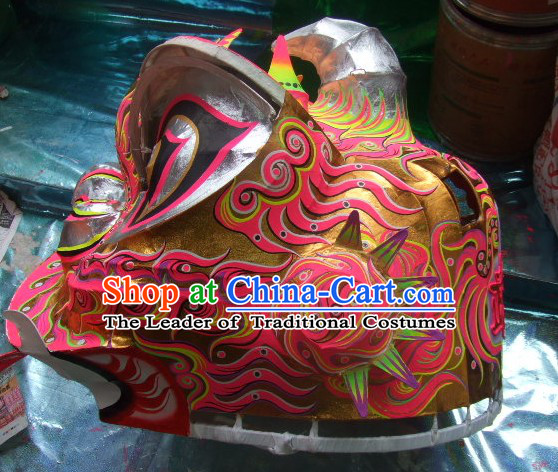 Top Chinese Classic 100_ Natural Long Futsan Style Lion Dance Costumes Complete Set