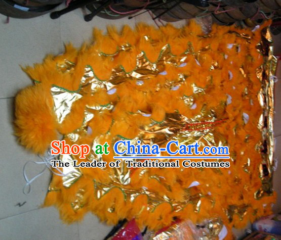 Chinese Traditional 100% Natural Long Wool Lion Dance Tail Pants Claws Set