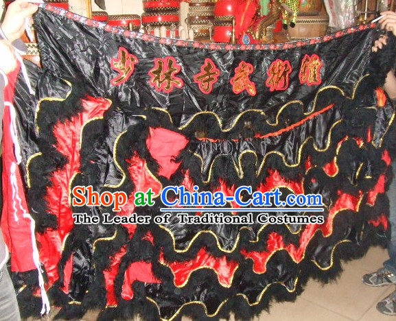 Chinese Traditional 100% Natural Long Wool Lion Body Costume Pants Claws Set