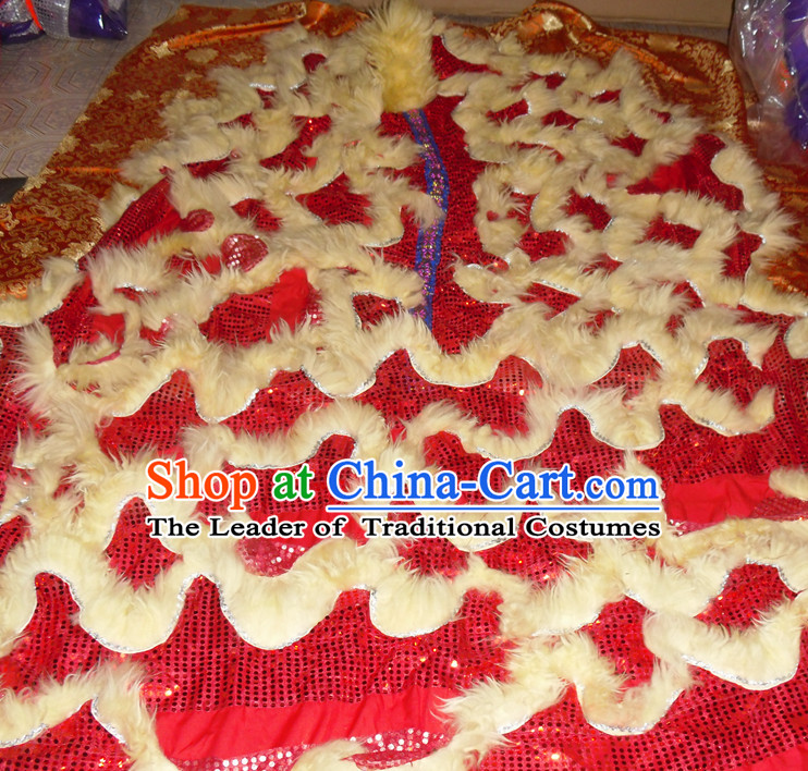 Top Asian Chinese Lion Dance Troupe Performance Suppliers Pants Equipments Art Instruments Lion Tail Costumes