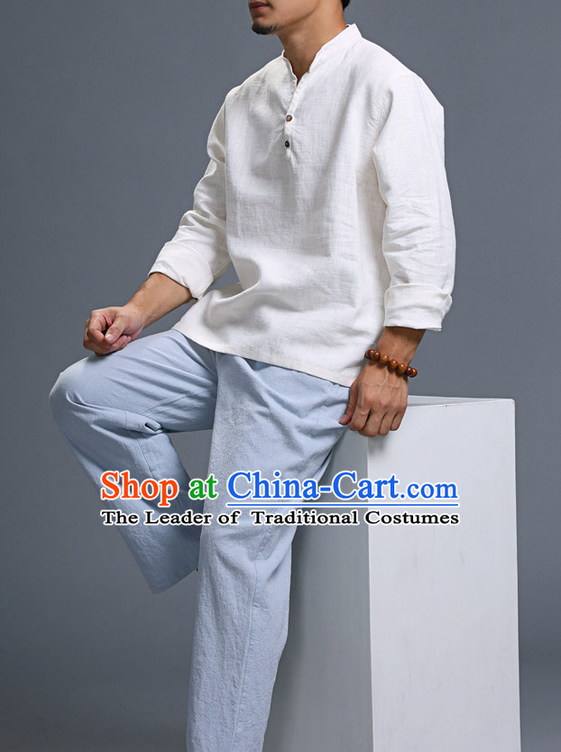 Top Tai Chi Uniforms Pants Tai Chi Suit Apparel Suits Attire Robe Kung Fu Costume Chinese Kungfu Jacket Wear Dress Uniform Clothing Taijiquan Shaolin Chi Gong Taichi Suits for Men Women Kids
