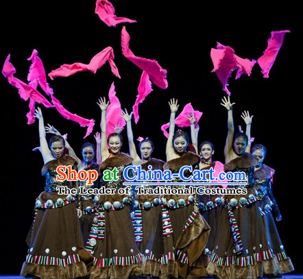 Chinese Traditional Mongolian Dancing Outfits Dancewear Costumes Dancer Costumes Dance Costumes Chinese Dance Clothes Traditional Chinese Clothes Complete Set for Women