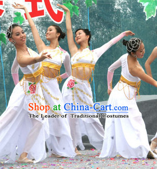 Chinese Stage Folk Dancing Dancewear Costumes Dancer Costumes Dance Costumes Chinese Dance Clothes Traditional Chinese Clothes Complete Set for Women Kids
