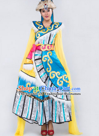 Chinese Stage Mongolian Dancing Dancewear Costumes Dancer Costumes Dance Costumes Chinese Dance Clothes Traditional Chinese Clothes Complete Set for Women Children