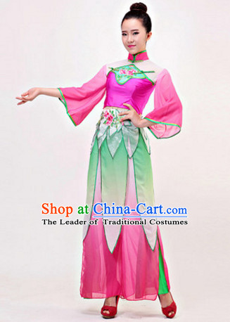 Chinese Stage Classical Folk Dancewear Costumes Dancer Costumes Dance Costumes Chinese Dance Clothes Traditional Chinese Clothes Complete Set for Women Children