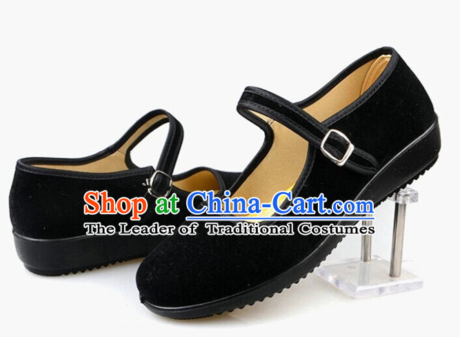 chinese black embroidery shoes for boys