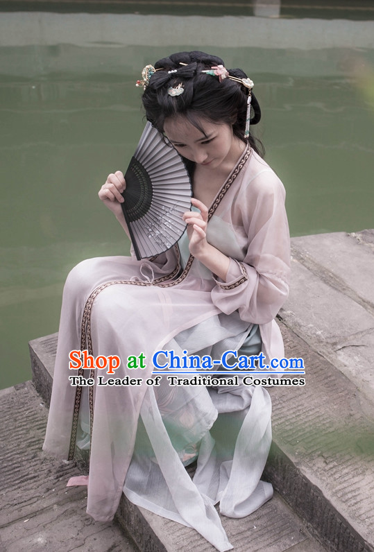 Traditional Asian Chinese Song Dynasty Female Clothing Garment Han Fu Clothes for Ladies