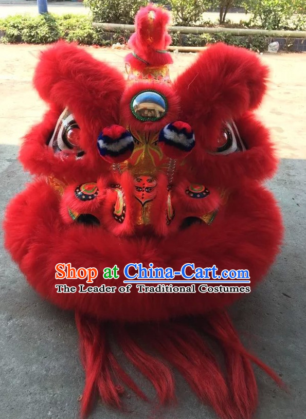 Top Red Competition and Parade Lion Dancing Equipments Complete Set