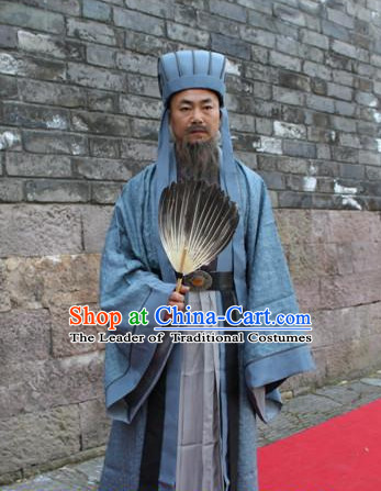Ancient Chinese Zhuge Liang Three Kingdom Costume Complete Set