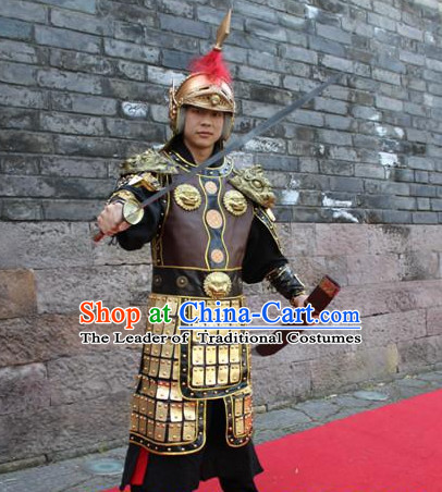 Ancient Chinese Solider Body Armor Costumes Complete Set