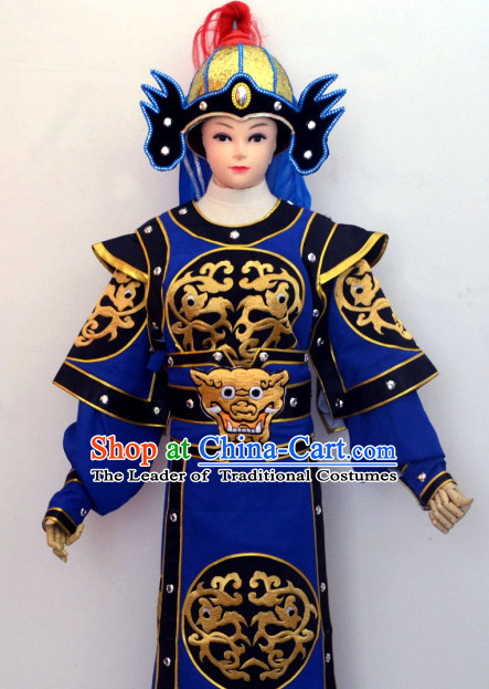 Ancient Chinese Solider General Opera Costumes Complete Set