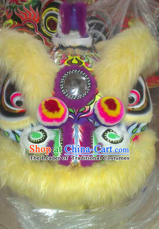 Big Opening Ceremony 100% Natural Long Wool Lion Dance Equipment Complete Set