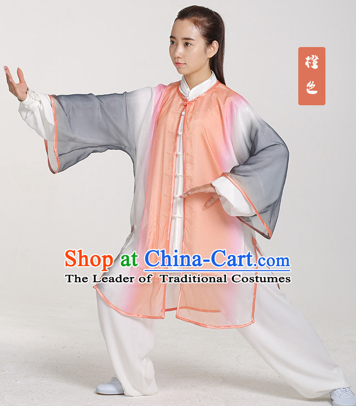 Top Chinese Traditional Taiji Tai Chi Dresses Uniforms Complete Set for Women or Men