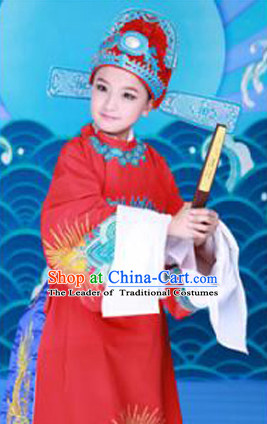Traditional Chinese Han Dynasty Bridegroom Costumes Dress Chinese Hanfu Clothing Cloth China Attire Oriental Dresses Complete Set for Kids