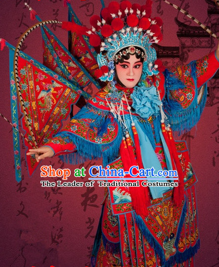 Chinese Beijing Opera Costumes Peking Opera Mu Guiying Costume Lady Armor Complete Set for Women