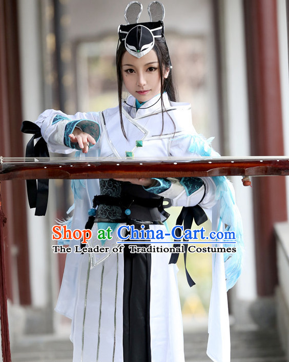 Chinese Costume Superheroine Cosplay Costumes China Traditional Armors Complete Set for Men Women Kids Adults