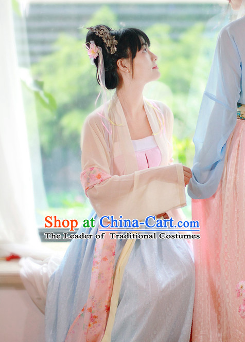 Traditional Chinese Han Dynasty Noblewoman Clothes Blouse Skirt and Hair Jewelry Complete Set for Women