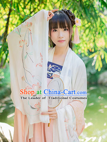 Hanfu Clothing Custom Traditional Chinese Hanfu Dreses Han Clothing Hanzhuang Historical Dress and Accessories Complete Set