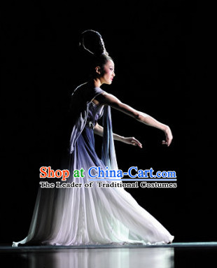 Chinese Classical Dance Costume Folk Dancing Costumes Traditional Chinese Dance Costumes Asian Dance Costumes Complete Set for Women