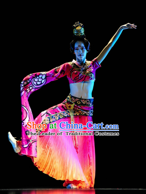 Chinese Classical Dance Costume Folk Dancing Costumes Traditional Chinese Dance Costumes Asian Dancewear Complete Set for Women