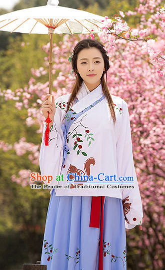 Hanfu Clothing Custom Traditional Chinese Wedding Hanfu Dreses Han Clothing Hanzhuang Historical Dress and Accessories Complete Set