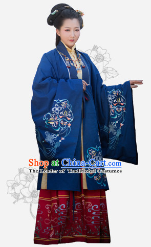 Hanfu Clothing Custom Traditional Chinese Hanfu Dreses Han Clothing Hanzhuang Historical Dress and Accessories Complete Set for Women