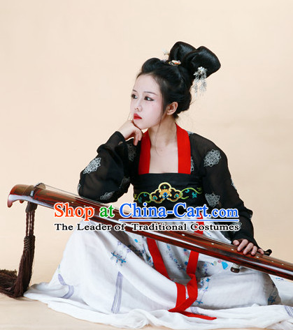Ancient Dynasty Women Han Fu/Hanfu Clothing Hanzhuang Historical Dress Historical Clothing and Accessories Complete Set for Women