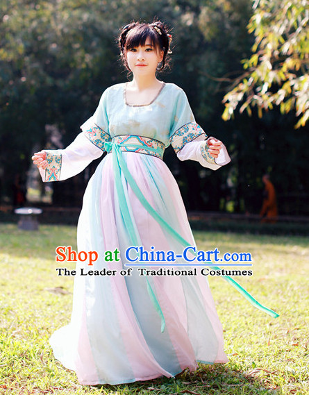 Ancient Asian Dynasty Women Han Fu/Hanfu Clothing Hanzhuang Historical Dress Historical Clothing and Accessories Complete Set for Women