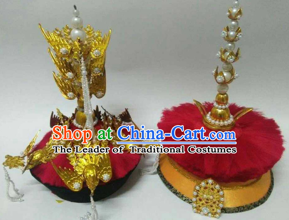 Top Traditional Chinese Empress Phoenix Coronet Hat and Bridegroom Hat