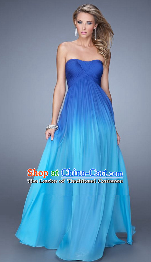 Summer Color Changing Evening Dress Gradient Skirt for Women and Girls