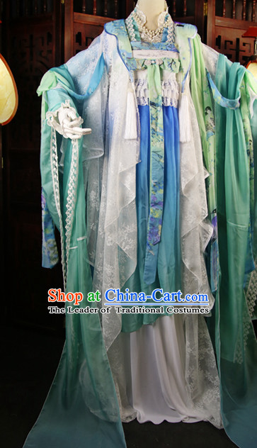 Chinese Imperial Princess Clothing Cosplay Dresses National Costume Traditional Chinese Clothing Attire Complete Set