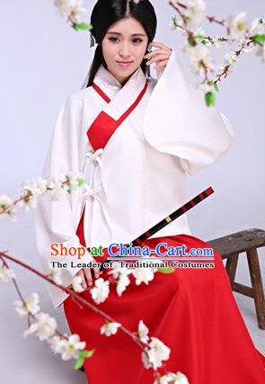 Ancient Chinese Ming Dynasty Drama Scene Hanfu Clothing Complete Set for Women