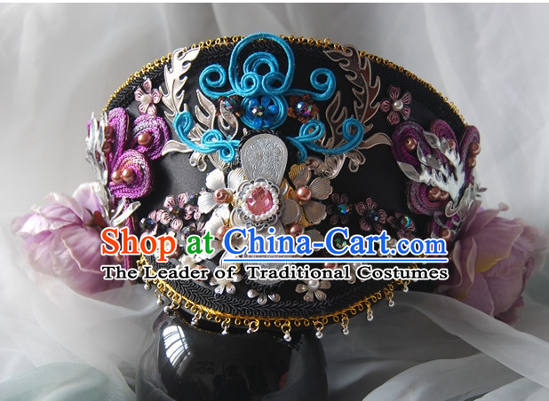 Qing Dynasty Imperial Royal Quene Phoenix Hairstyle Wigs Hairstyle Chinese Oriental Hairstyles