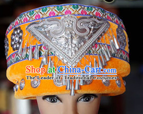 Chinese Miao Minority Hmong Folk Ethnic Hat for Women